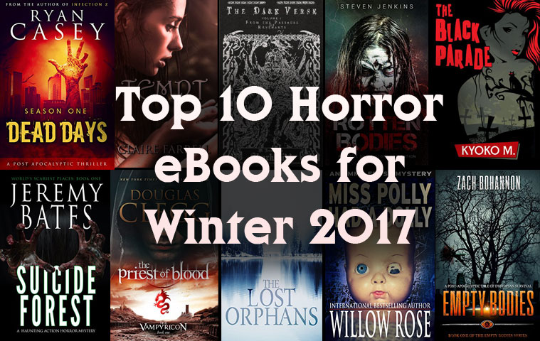 Top 10 Horror EBooks Winter 2017