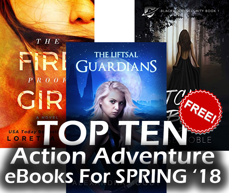 Top Ten FREE Action Adventure eBooks for Spring 2018